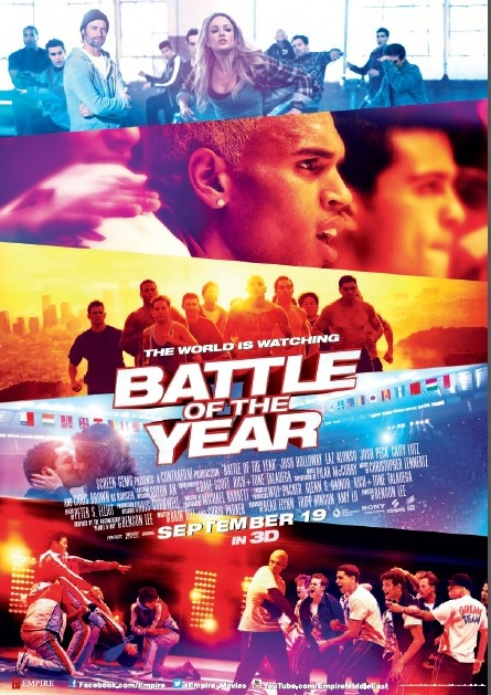 "Get a chance to win 10 invites to the 3D movie premiere of ""Battle of the Year"""