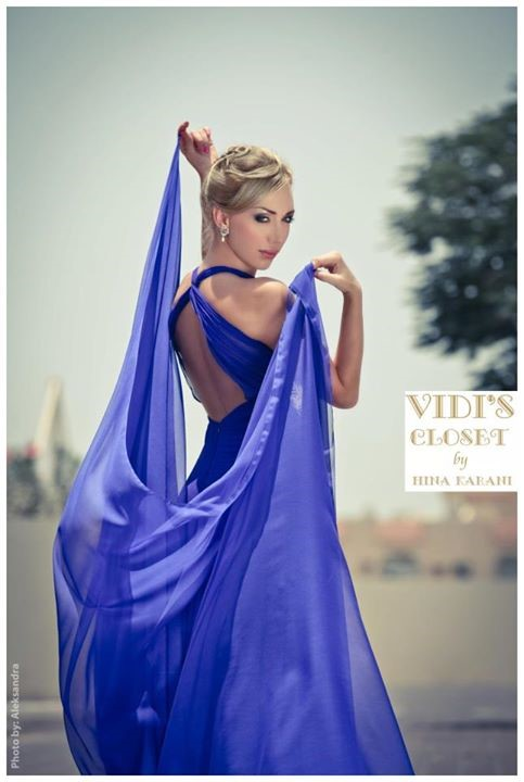 Drape yourself with this beautiful gown from Vidis Closet.