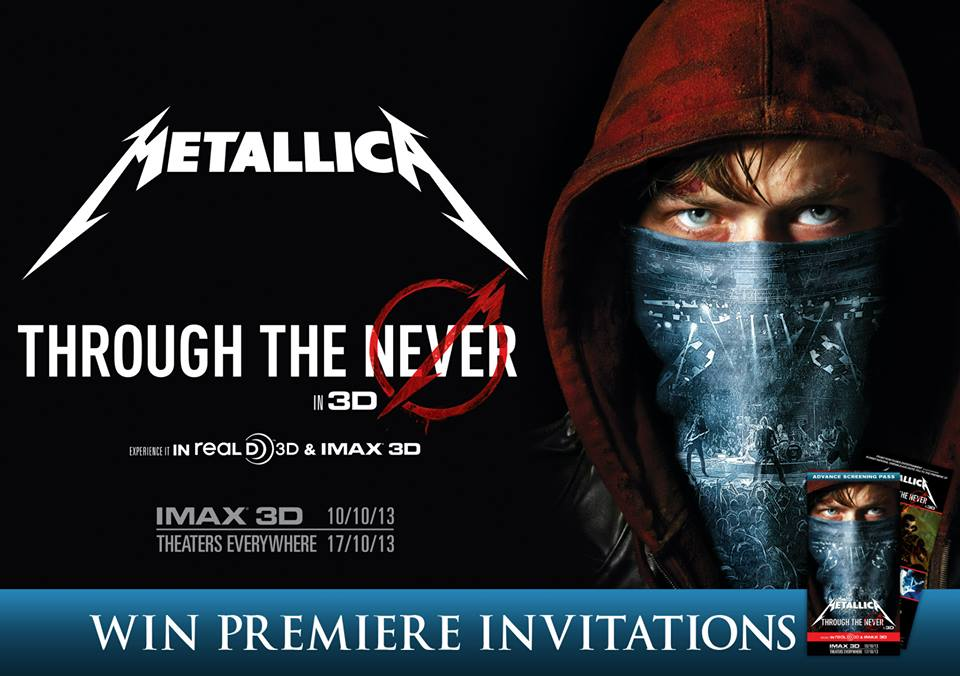 get a chance to win 10 invites to the movie premiere of metallica