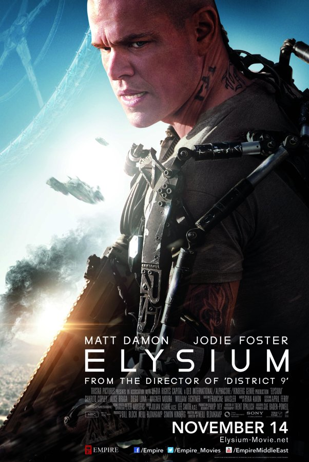 "Get a chance to win 10 invites to the movie premiere of ""Elysium"""