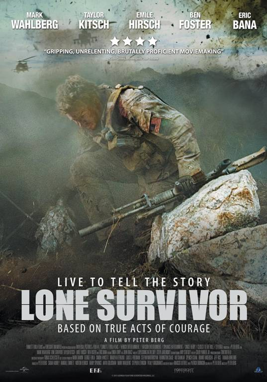 Get a chance to win 5 pair of invites to the movie premiere of the action movie: 'Lone Survivor'