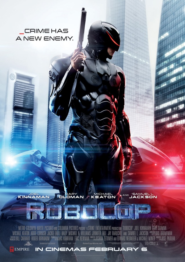 "Get a chance to win 3 pair of invites to the movie premiere of ""ROBOCOP"""
