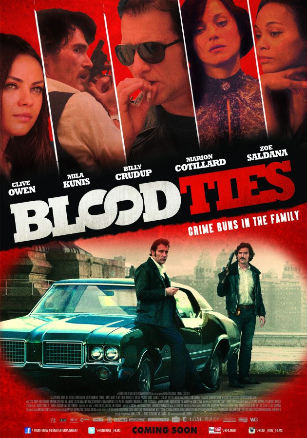 "Get a chance to win invites to the movie premiere of ""Blood Ties"""