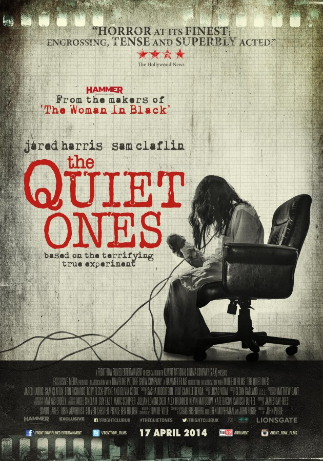 "Win 10 Invites to the premiere of  the film ""The Quiet Ones"""