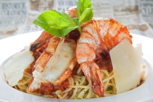 Lobster & Prawn tagliatelli