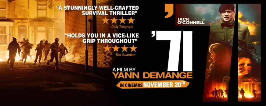 Get a chance to win 20 invites to the premiere screening of '71 action/drama/thriller starring Jack O'Connell