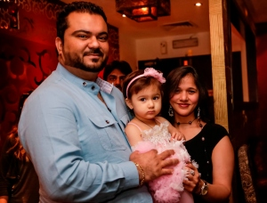 Mukesh (Owner Kebab Owner with his wife and baby)