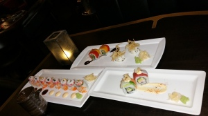 China Grill Crab, Rainbow and Veggi Rolls