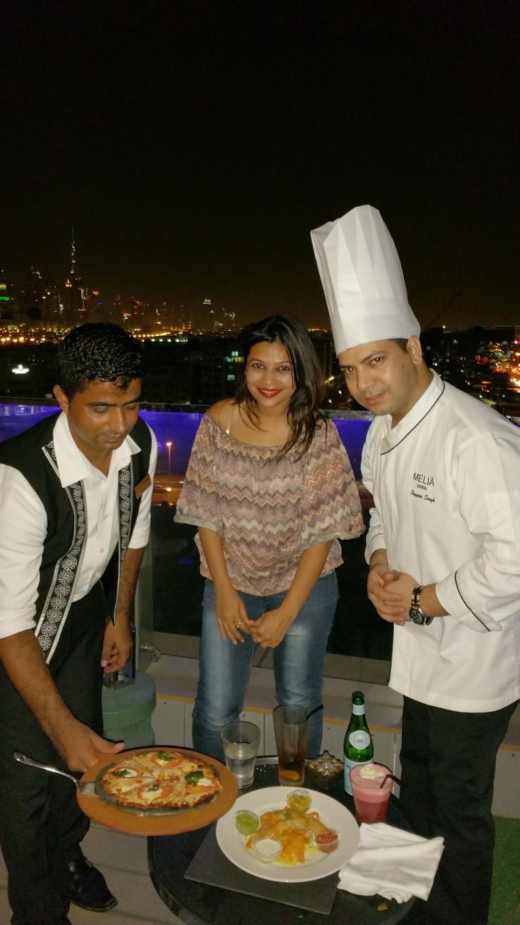 Melia Estrellas With Chef Praveen