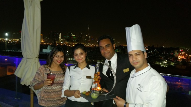 Melia With team Melia Estrellas with Chef Praveen